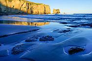Oceania, New Zealand, Aotearoa, South Island, Dunedin, Tunnel Beach,