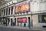 Closed doors of the Garrick Theatre which is showing Death Drop in the West End as the national coronavirus lockdown three continues and theatres have to remain shut on 14th April 2021 in London, United Kingdom.