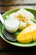 Mango with sticky rice at Rimtang restaurant, Phuket Old Town