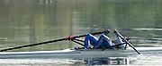 Hazewinkel. BELGUIM  GBR M1X Final. Exhausted Sculler . 2004 GBR Rowing Trials - Rowing Course, Bloso, Hazewinkel. BELGUIM. [Mandatory Credit Peter Spurrier/ Intersport Images]