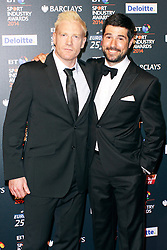 © Licensed to London News Pictures. 08/05/2014, UK. Iwan Thomas & Craig Doyle, BT Sport Industry Awards 2014, Battersea Evolution, London UK, 08 May 2014. Photo credit : Brett D. Cove/Piqtured/LNP