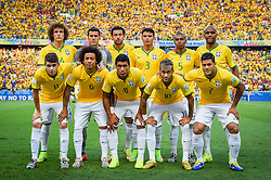 Foto oficial do Brasil na partida contra a Colombia, válida pelas quartas de final da Copa do Mundo 2014, no Estádio Castelão, em Fortaleza-CE. FOTO: Jefferson Bernardes/ Agência Preview