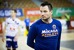 Luka Slabe, head coach of ACH during volleyball game between OK ACH Volley and OK Panvita Pomgrad in 1st final match of Slovenian National Championship 2013/14, on April 6, 2014 in Arena Tivoli, Ljubljana, Slovenia. Photo by Vid Ponikvar / Sportida