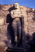 SRI LANKA, ANCIENT CULTURE Polonnaruwa, Gal Vihara 12th century, rock cut Buddha, 22 feet tall