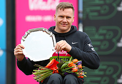 David Weir, winner of the men's wheelchair race during the Vitality Big Half in London.