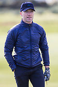 5th October 2017, The Old Course, St Andrews, Scotland; Alfred Dunhill Links Championship, first round; Ronan Keating walks along the fairway