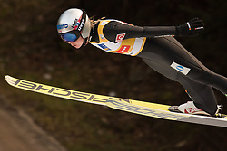 February 8, 2019 - Maren Lundby of Norway on first competition day of the FIS Ski Jumping World Cup Ladies Ljubno on February 8, 2019 in Ljubno, Slovenia. (Credit Image: © Rok Rakun/Pacific Press via ZUMA Wire)