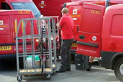 © Licensed to London News Pictures.04/10/2017.<br /> Orpington, UK.<br /> Royal Mail Orpington delivery office South East London.<br /> Royal Mail staff vote to strike over dispute about pay and pensions, the strike may affect Christmas post.<br /> Photo credit: Grant Falvey/LNP
