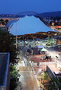 The Charlottesville pavilion concert at night on the mall.