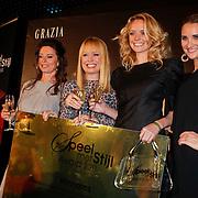 NLD/Amsterdam/20111026- Uitreiking Grazia Speel met Stijl 2011, Maartje Blijleven winnares vliegreis