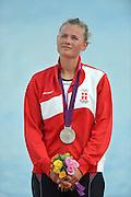 Eton Dorney, Windsor, Great Britain,..2012 London Olympic Regatta, Dorney Lake. Eton Rowing Centre, Berkshire.  Dorney Lake.  .Women's Single Sculls, Medals Gold Medalist, CZE W1X Mirca KNAPKOVE. Silver Medalist DEN W1X  Fie Udby ERICHSEN. Bronze Medalist AUS W1X, Kim CROW...13:11:26  Saturday  04/08/2012 [Mandatory Credit: Peter Spurrier/Intersport Images]