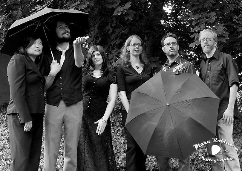 self-portrait: The Nü Pornographers one-night-only halloween tribute: Sharon Yoo, Dave Molnar, Mara Robinson, Tara Klein, Justin Seeker, Matt Clement