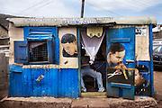 Diamond Barbing Saloon and Golden Finger. Freetown, Sierra Leone
