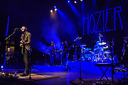 """WASHINGTON, DC - March 7, 2015 - Hozier ( left) performs at the Lincoln Theater in Washington, D.C. His hit song """"Take Me To Church"""" was nominated for Song of the Year at the 2015 Grammys. (Photo by Kyle Gustafson / For The Washington Post)"""