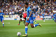 Peterborough United forward Ivan Toney (17) surges forward during the EFL Sky Bet League 1 match between Peterborough United and Portsmouth at London Road, Peterborough, England on 15 September 2018.