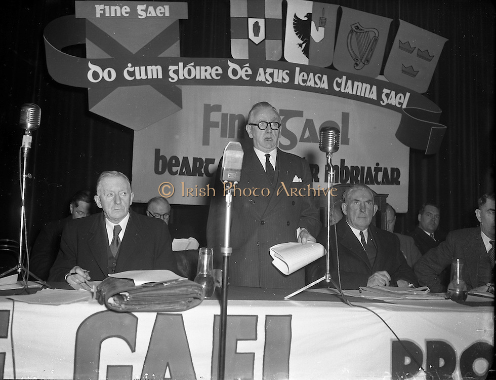 06/02/1957<br /> 02/06/1957<br /> 06 February 1957<br /> <br /> Fine Gael Ard Feis at Mansion House (Mr Costello Speaking)