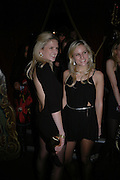 OLYMPIA AND FIONA ( backless) SCARRY. Party to celebrate the First issue of British Harper's Bazaar. Cirque, Leicester Sq. London. 16 February 2006. ONE TIME USE ONLY - DO NOT ARCHIVE  © Copyright Photograph by Dafydd Jones 66 Stockwell Park Rd. London SW9 0DA Tel 020 7733 0108 www.dafjones.com