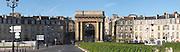 Porte Bourgogne or des Salinieres. On Les Quais. Bordeaux city, Aquitaine, Gironde, France