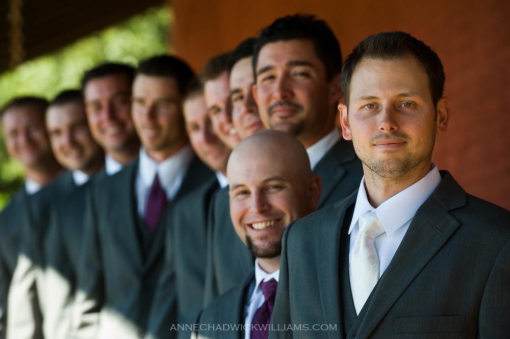 Groom and groomsmen before wedding.