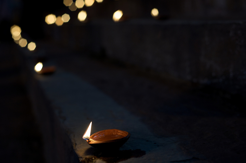 """Deepavali means """"row of lights/lamps"""" in Sanskrit. It is called """"Divali"""" in North India. The festival is celebrated on the occasion of Krishna and his wife Satyabhama killing a demon Narakasura."""