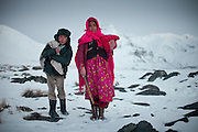 Lola and Kossim, boy who can speak some english, after wahsing cloth at Sarhad village, the end of the road in the Wakhan Corridor.