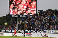 Fotball , 15. juni 2019 , Eliteserien,<br />Haugesund - Brann Bergen<br />Fans fra Brann Bergen mot Haugesund.<br />Foto: Andrew Halseid Budd , Digitalsport