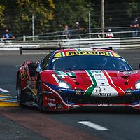 #51, Ferrari 488 GTE Evo, AF Corse, drivers: A. Pier Guidi, J. Calado, D. Serra, GTE Pro, Le Mans 24H 2020, on 19/09/2020