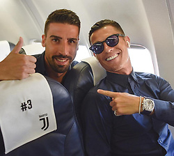 """Sami Khedira releases a photo on Instagram with the following caption: """"Feliz anivers\u00e1rio meu amigo \ud83c\udf89 #happybirthday @cristiano"""". Photo Credit: Instagram *** No USA Distribution *** For Editorial Use Only *** Not to be Published in Books or Photo Books ***  Please note: Fees charged by the agency are for the agency's services only, and do not, nor are they intended to, convey to the user any ownership of Copyright or License in the material. The agency does not claim any ownership including but not limited to Copyright or License in the attached material. By publishing this material you expressly agree to indemnify and to hold the agency and its directors, shareholders and employees harmless from any loss, claims, damages, demands, expenses (including legal fees), or any causes of action or allegation against the agency arising out of or connected in any way with publication of the material."""
