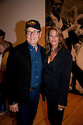 KEVIN SPACEY; TRACEY EMIN;;, Opening of Love is what you want. Exhibition of work by Tracey Emin. Hayward Gallery. Southbank Centre. London. 16 May 2011. <br /> <br />  , -DO NOT ARCHIVE-© Copyright Photograph by Dafydd Jones. 248 Clapham Rd. London SW9 0PZ. Tel 0207 820 0771. www.dafjones.com.