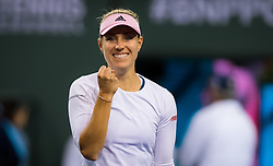 March 15, 2019 - Indian Wells, USA - Angelique Kerber of Germany after winning her semi-final at the 2019 BNP Paribas Open WTA Premier Mandatory tennis tournament (Credit Image: © AFP7 via ZUMA Wire)