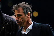 Birmingham City manager Gianfranco Zola leaves the pitch to boos from the Birmingham City fans during the EFL Sky Bet Championship match between Birmingham City and Burton Albion at St Andrews, Birmingham, England on 17 April 2017. Photo by Richard Holmes.