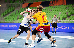Marko Kotar of Trebnje in action during handball match between RK Trimo Trebnje and GOG Gudme in 9th Round of EHF Europe League 2020/21, on February 24, 2021 in Arena Stozice, Ljubljana, Slovenia. Photo by Vid Ponikvar / Sportida