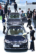 Germany's Volkswagen automaker displays a VW Lavida (front) and a new Passat Lingyue (back) cars during Shanghai Motor Show, in Shanghai, China, on April 20, 2009. Shanghai auto show opened Monday for the press and will be open April 24-28 for the public. China is the only major auto market still growing despite the global economic slowdown. U.S. and global auto makers see China as the place where they can find the sales they desperately lack in their home market. Chinese automakers see the opportunity to assess themselves as major players in the world market. Photo by Lucas Schifres/Pictobank
