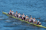 London, United Kingdom. Leander Club,  crew from Barnes Rail Bridge ridge  2014 Women's Head of the River Race. Chiswick to Putney, River Thames.  Saturday  15/03/2014    [Mandatory Credit; Peter Spurrier/Intersport-images]