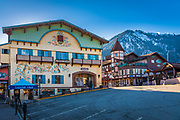 Leavenworth is a city in Chelan County, Washington, in Eastern Washington United States. The entire town center is modelled on a Bavarian village.