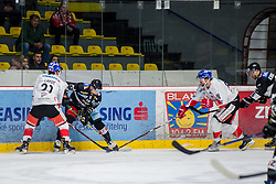 27.11.2018, Ice Rink, Znojmo, CZE, EBEL, HC Orli Znojmo vs HC TWK Innsbruck Die Haie, 23. Runde, im Bild v.l. Alexandre Lavoie (HC TWK Innsbruck) David Bartos (HC Orli Znojmo) Nicholas Ross (HC TWK Innsbruck) Michal Kruckovych (HC Orli Znojmo) // during the Erste Bank Eishockey League 23th round match between HC Orli Znojmo and HC TWK Innsbruck Die Haie at the Ice Rink in Znojmo, Czechia on 2018/11/27. EXPA Pictures © 2018, PhotoCredit: EXPA/ Rostislav Pfeffer