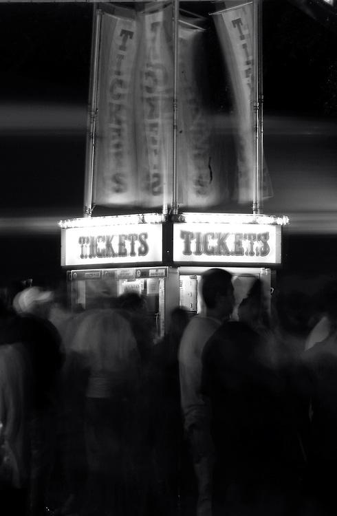A carnival ticket window.