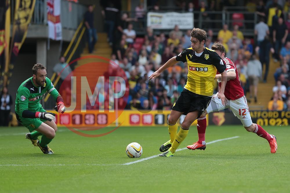 Nottingham Forest's Jamie Mackie looks for the ball  - Photo mandatory by-line: Nigel Pitts-Drake/JMP - Tel: Mobile: 07966 386802 25/08/2013 - SPORT - FOOTBALL -Vicarage Road Stadium - Watford -  Watford v Nottingham Forest - Sky Bet Championship