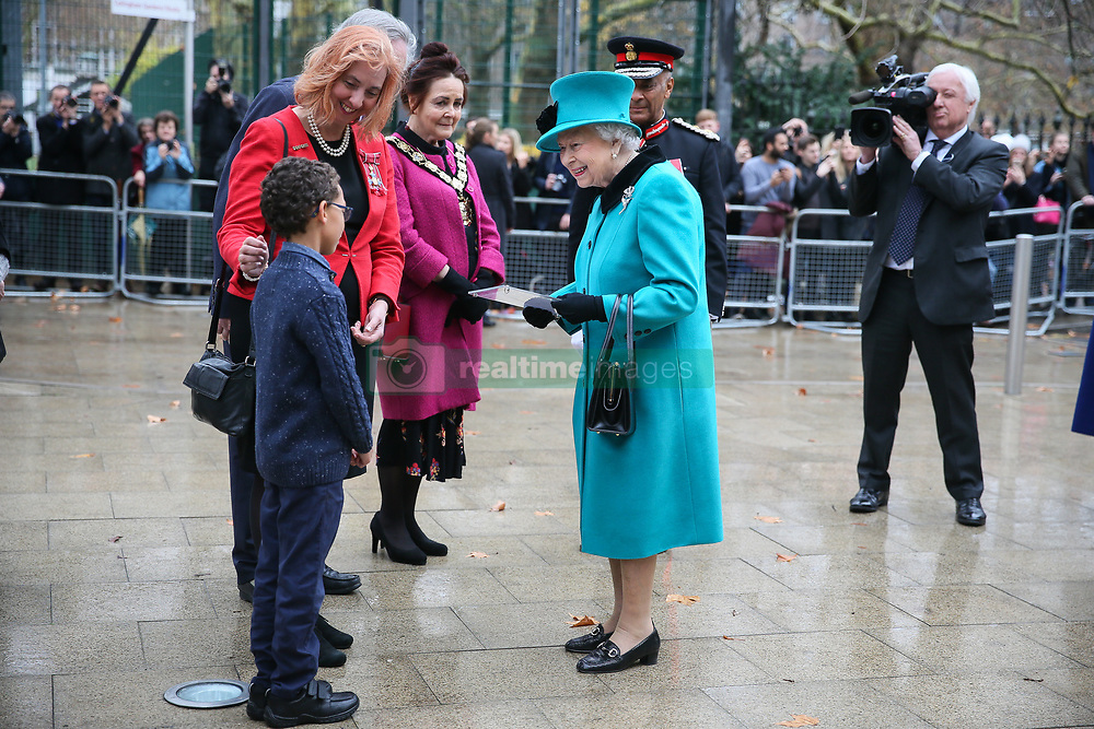 Her Royal Highness The Queen arriving to officially open The Queen Elizabeth II Coram Centre  - London<br /><br />5 December 2018.<br /><br />Please byline: Vantagenews.com