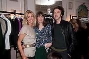 BARONESS LISA BENTINCK;  LADY SOPHIA HAMILTON; CHARLES SEBLINE; Hamlton-Paris host a trunk show for Autumn/Wnter 2010. The Connaught. Carlos Place. Mayfair. London W1. 23 March 2010.