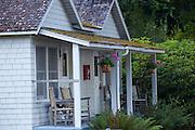 Cabins at Lake Crescent Lodge, Olympic National Park, Washington.