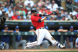 September 3, 2017 - Minneapolis, MN, USA - Minnesota Twins second baseman Brian Dozier (2) hits a fly ball in the infield to end the game against the Kansas City Royals on Sunday, Sept. 3, 2017 at Target Field in Minneapolis, Minn. Kansas City beat Minnesota 5-4. (Credit Image: © Jerry Holt/TNS via ZUMA Wire)