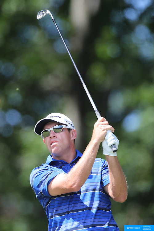 Brian Davis, England, in action during the third round of the Travelers Championship at the TPC River Highlands, Cromwell, Connecticut, USA. 21st June 2014. Photo Tim Clayton