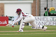 Northamptonshire wicket keeper Ben Duckett batting during the Specsavers County Champ Div 2 match between Northamptonshire County Cricket Club and Essex County Cricket Club at the County Ground, Wantage Road, Abingdon, United Kingdom on 28 May 2016. Photo by Nigel Cole.