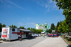 UAE Team Emirates bus at team area in Zalecduring 3rd Stage of 26th Tour of Slovenia 2019 cycling race between Zalec and Idrija (169,8 km), on June 21, 2019 in Slovenia. Photo by Matic Klansek Velej / Sportida