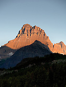 Mountain Sunrise near Swiftcurrent Lake, Glacier National Park.g