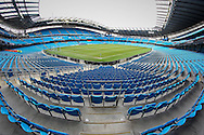 General view of the Etihad Stadium before the Barclays Premier League match between Manchester City and Tottenham Hotspur at the Etihad Stadium, Manchester, England on 14 February 2016. Photo by Mark P Doherty.