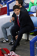 Middlesbrough Manager Aitor Karanka looks on prior to kick off. Premier league match, Everton v Middlesbrough at Goodison Park in Liverpool, Merseyside on Saturday 17th September 2016.<br /> pic by Chris Stading, Andrew Orchard sports photography.