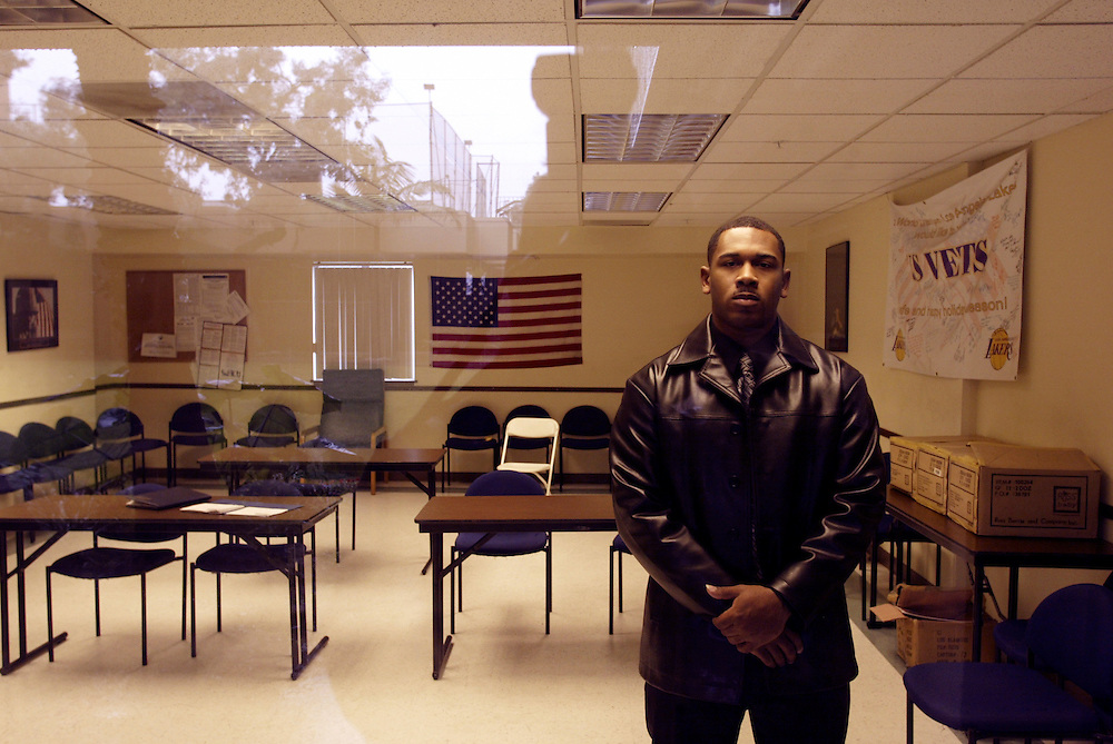 Iraq War veteran James Brown at US Vets Homeless Shelter. Photographed for Time Magazine
