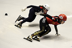 February 8, 2019 - Torino, Italia - Foto LaPresse/Nicolò Campo .8/02/2019 Torino (Italia) .Sport.ISU World Cup Short Track Torino - 3000 meter Ladies Relay Quarterfinals.Nella foto: Gwendoline Daudet, Yang Song..Photo LaPresse/Nicolò Campo .February 8, 2019 Turin (Italy) .Sport.ISU World Cup Short Track Turin - 3000 meter Ladies Relay Quarterfinals.In the picture: Gwendoline Daudet, Yang Song (Credit Image: © Nicolò Campo/Lapresse via ZUMA Press)